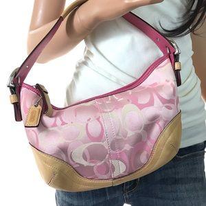 COACH Pink Signature Optic Handbag #1850 & Dustbag
